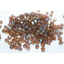 Margele Cehesti Fire-Polish 4mm X10230 Smoky Topaz AB