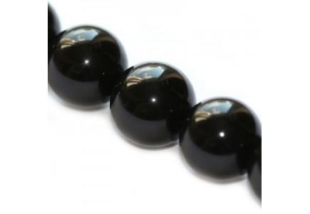 Margele rotunde Black Onyx 12mm