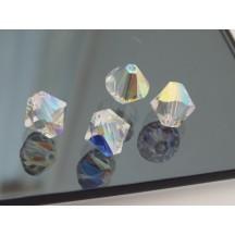 Swarovski Crystal AB 10mm Bi-cone
