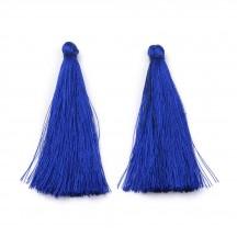 Ciucure decoratii 70x70mm Albastru roial