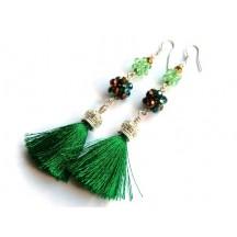 Ciucure decoratii 70x70mm Verde Marin