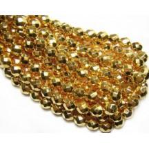 Margele Cehesti Fire-Polish Golden Coated 3mm 97487CR