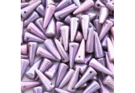 Margele Spikes 5x13mm Luster Metallic Amethyst