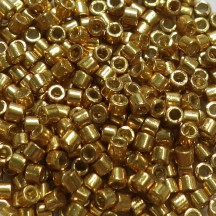 Delica 10/0 DB1832  Duracoat Galvanized  Gold