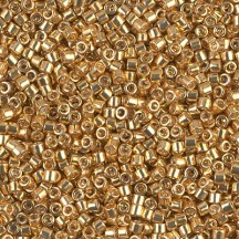 Delica 10/0 DB0410 Galvanized Yellow Gold Dyed
