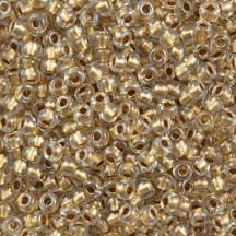 Margele de nisip Miyuki 15/0 Inside Colour Lined Gold Luster 0234