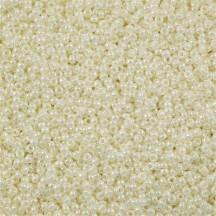 Margele de nisip Miyuki 8/0 Ceylon Ivory Pearl 591