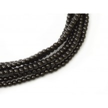 Perle Sticla Cehia 6mm Black 70409
