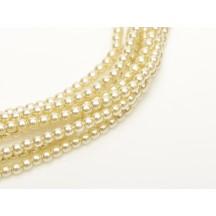 Perle Sticla Cehia 3mm Old Lace 10001
