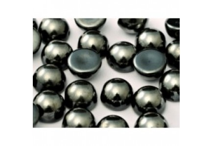 Margele Dome 10x6mm 27200 Jet Vacuum Hematite Full
