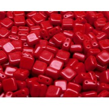 Tile CzechMates 6mm 93200 Opaque Red