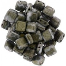Tile CzechMates 6mm S1007WH Pacifica Poppy Seed
