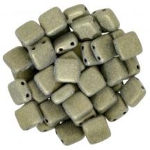 Tile CzechMates 6mm 79080MJT Metallic Suede Gold
