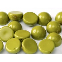 Margele Dome 12x7mm 48565 Fiesta Pea Green