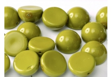 Margele Dome 10x6mm 48565 Pea Green