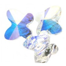 Swarovski Butterfly Crystal ab 6mm
