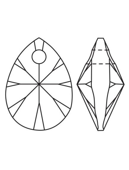 Swarovski Pandativ Mini Pear Crystal Astralpink 12 mm